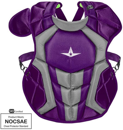 AllStar Intermediate System7 Axis Chest Protector Purple