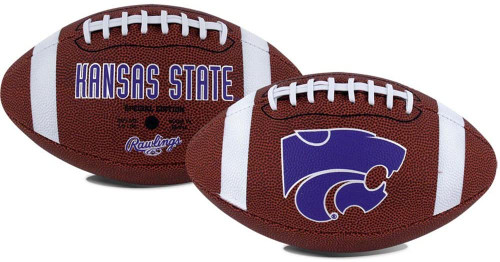 NCAA Game Time Full Size Football  Kansas State Wildcats Brown Full Size