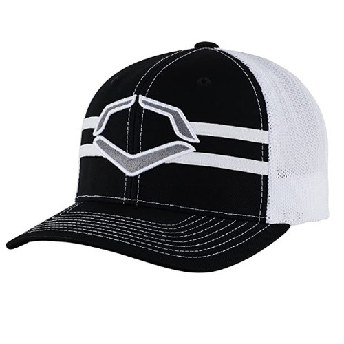Evoshield Grandstand Flexfit Hat Black White Small Medium