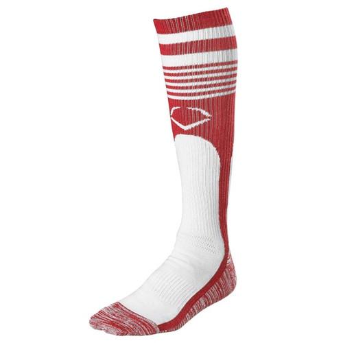 EvoShield Throwback Game Socks Scarlet X-Large