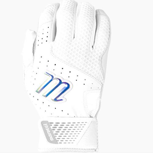 Marucci Crest Batting Gloves WhiteWhite Adult Large 1 Pair
