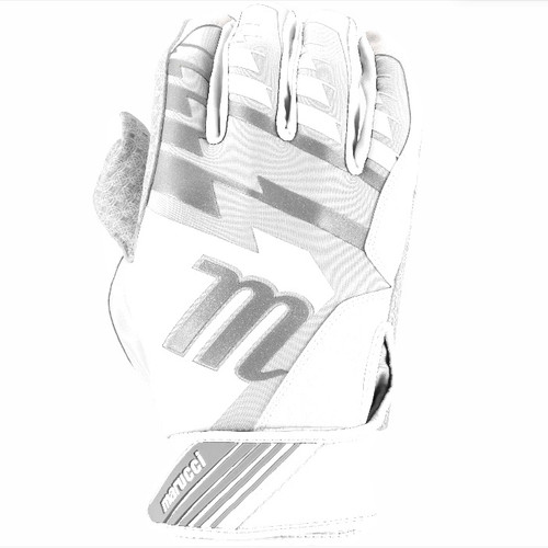 Marucci Tesoro Batting Gloves WhiteWhite Adult Large 1 Pair