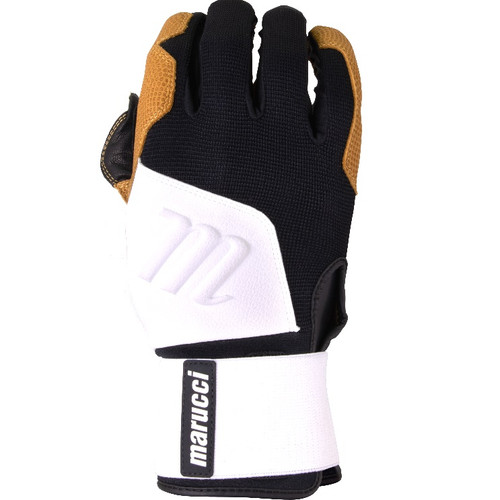 Marucci Blacksmith Full WRAP BG White Black Batting Gloves Adult Large