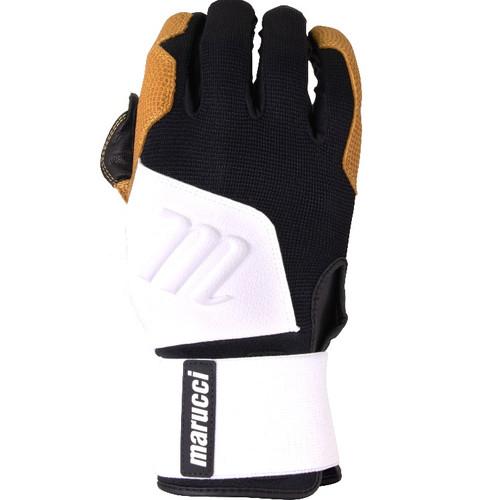 Marucci Blacksmith Full WRAP BG White Black Batting Gloves Adult X-Large