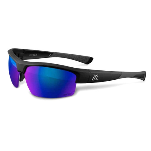 Marucci MV463 Matte Black Green with Blue Mirror Baseball Performance Sunglasses