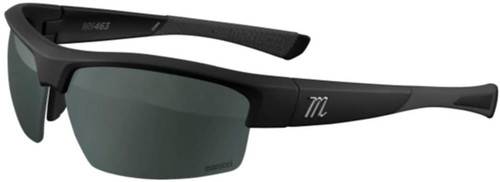 Marucci MV463 Matte Black Green with Charcoal Mirror Baseball Performance Sunglasses