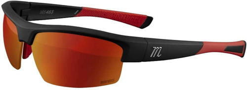 Marucci MV463 Matte Black Red-Violet with Red Mirror Baseball Performance Sunglasses