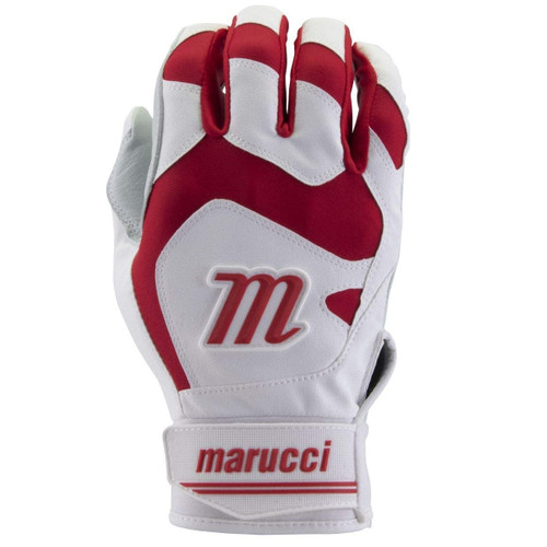Marucci Signature Youth Batting Gloves Red Youth Small