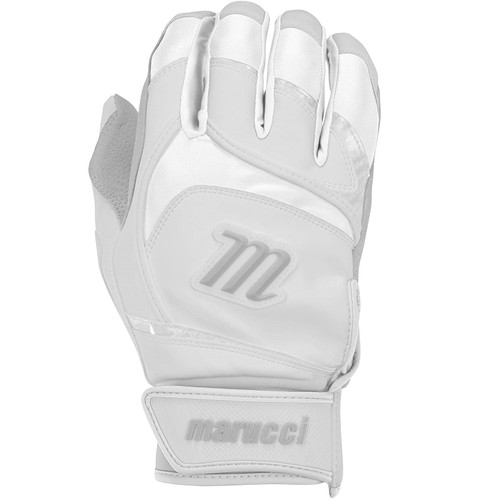 Marucci Signature Youth Batting Gloves White Youth Large