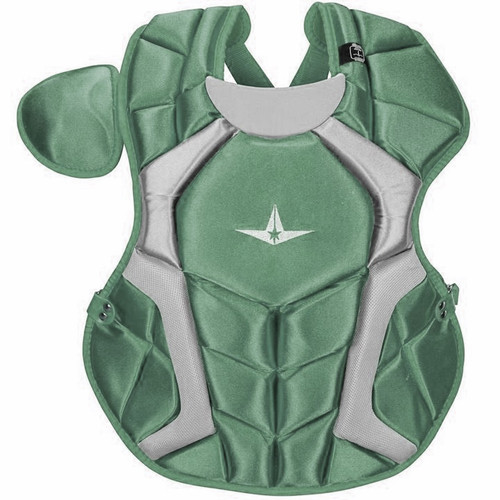 All-Star CPCC1618S7XDG Adult System Seven Pro Chest Protector Dark Green