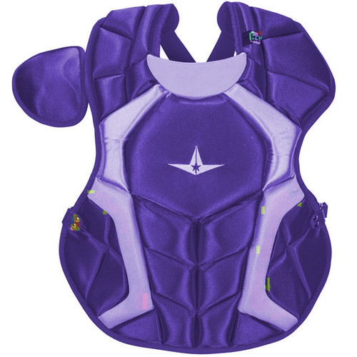 All-Star CPCC1618S7XPU Adult System Seven Pro Chest Protector Purple