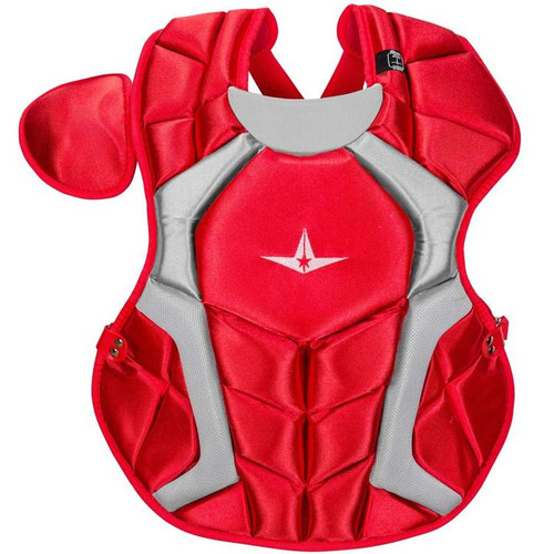 All-Star CPCC1618S7XSC Adult System Seven Pro Chest Protector Scarlet
