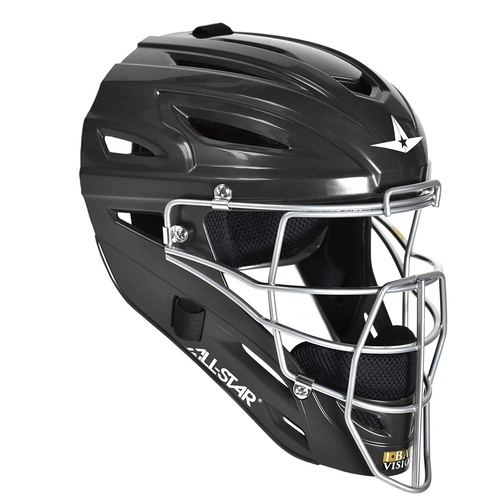 All-Star System 7 Catchers Helmet Fits 7-7 1/2 Black
