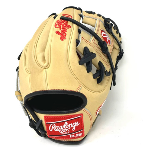 Rawlings Heart of Hide 11.25 Baseball Glove Tan Black Right Hand Throw