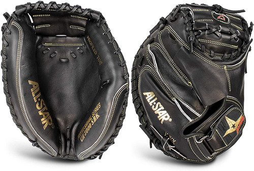 All-Star Pro-Elite 33.5 Professional Catchers Mitt Black Right Hand Throw