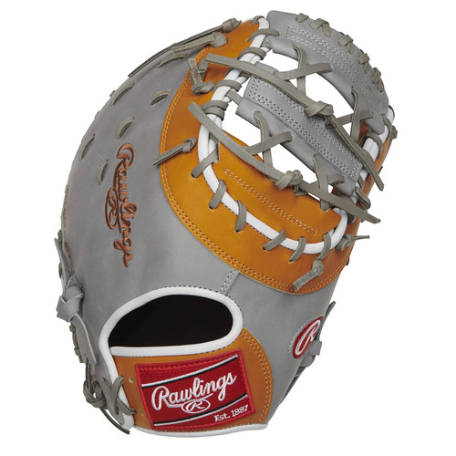 Rawlings Heart of The Hide Anthony Rizzo Gameday Model First Base Baseball Glove Grey Tan 12.75 inch Right Hand Throw