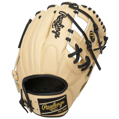 Rawlings Heart of The Hide Baseball Glove  Camel Black I Web 11.5 inch Right Hand Throw