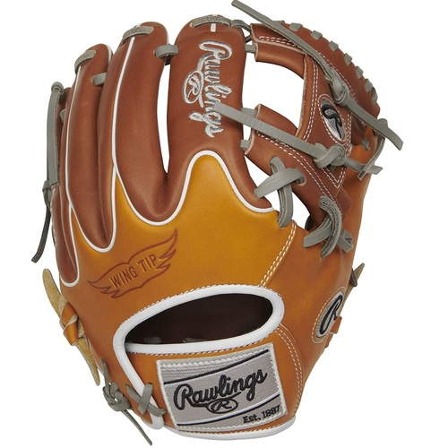 Rawlings Heart of The Hide R2G Baseball Glove Tan Timberglaze Grey 11.5 inch Pro I Web Right Hand Throw