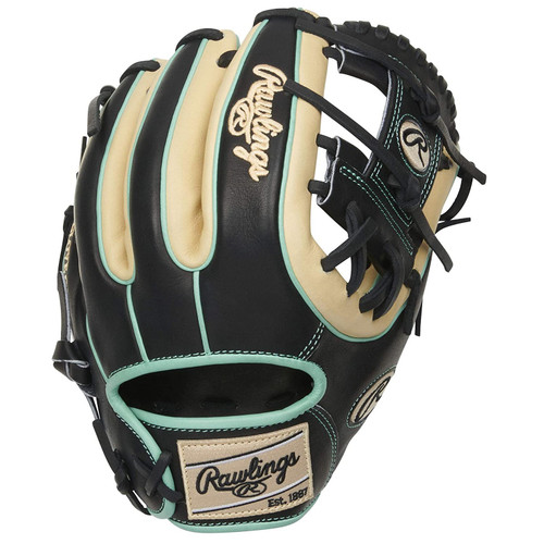 Rawlings Heart of The Hide  Black Camel Mint R2G Baseball Glove Pro I Web 11.5 inch Right Hand Throw