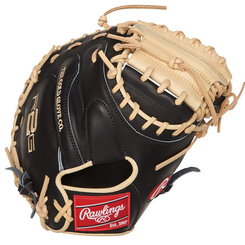 Rawlings Heart of The Hide R2G Catchers Mitt Black Camel 33 inch One-Piece Solid Web Right Hand Throw