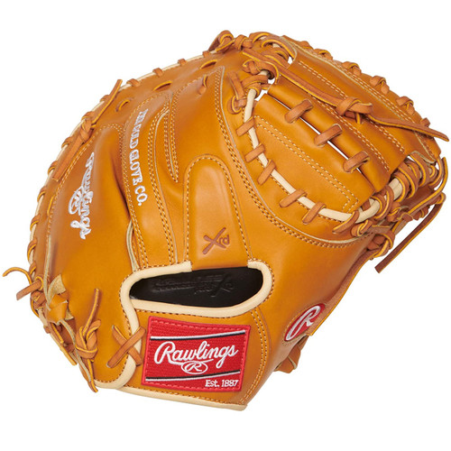 Rawlings PROSCM43RT Pro Preferred Rich Tan Catchers Mitt 34 Right Hand Throw