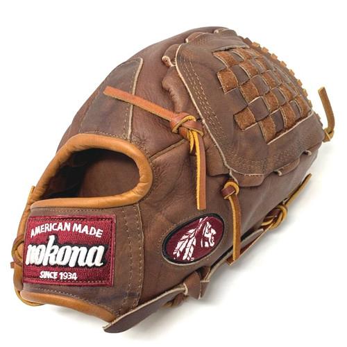 Nokona Walnut 13 Inch Closed Web Baseball Glove Right Hand Throw
