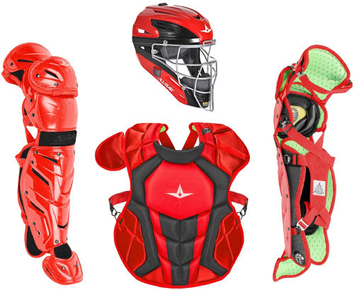 All-Star CKCC912S7XTT SC BK S7 AXIS Catchers Set Ages 9-12 Scarlet Black