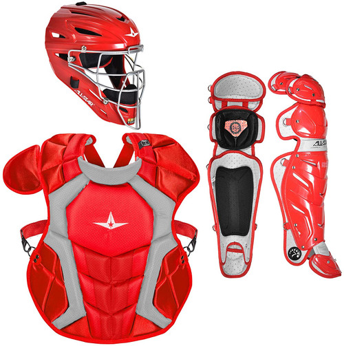 All-Star CKCCPRO1SC Certified NOCSAE Professional Catchers Set Scarlet