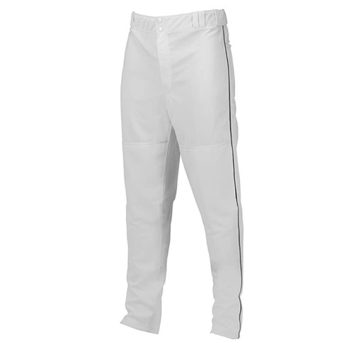 Marucci Youth Elite Double Knit Piped Baseball Pant White Black X-Large