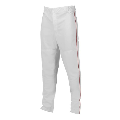 Marucci Adult Elite Double Knit Piped Baseball Pant White Red Large