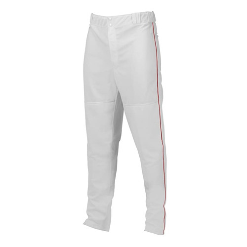 Marucci Adult Elite Double Knit Piped Baseball Pant White Red X-Large