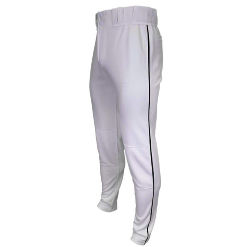 Marucci Tapered Double-Knit Piped Pant White Black White Black Youth Extra Large MAPTTDKPIP