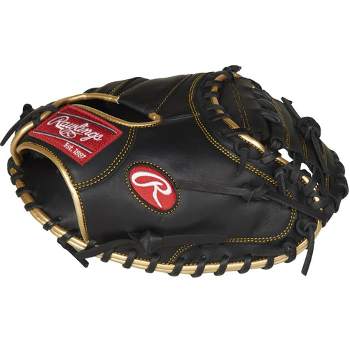 Rawlings R9 Series Baseball Catchers Mitt 1 Piece Solid Web 32.5 inch Right Hand Throw