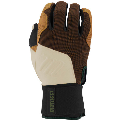 Marucci Blacksmith Full Wrap Batting Gloves Brown Tan Adult Medium