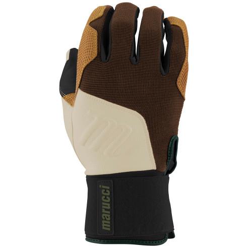 Marucci Blacksmith Full Wrap Batting Gloves Brown Tan Adult X-Large