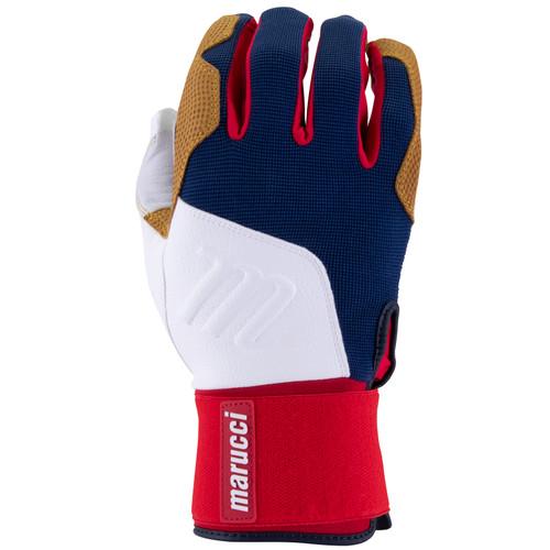 Marucci Blacksmith Full Wrap Batting Gloves USA Adult Small