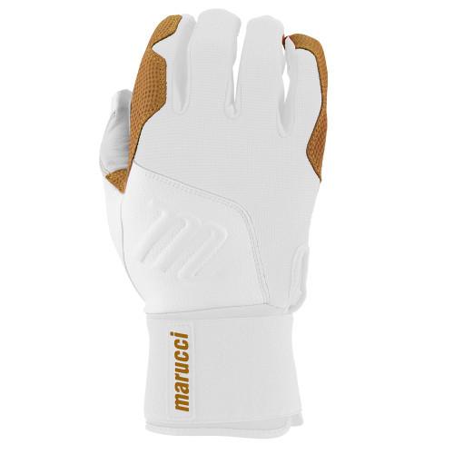 Marucci Blacksmith Full Wrap Batting Gloves White White Adult Medium