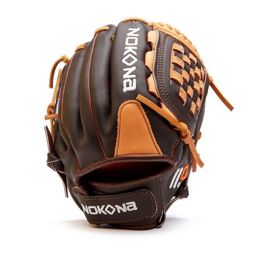 Nokona Alpha S-V1200 Softball Glove 12 inch Basket Web Right Hand Throw