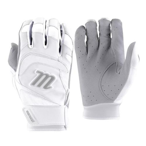 Marucci 2021 Signature Batting Glove White White Adult Large