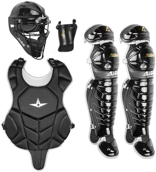 All-Star League Series Age 9 to 12 Catchers Set Black