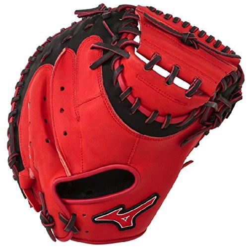 Mizuno GXC50PSE3 Catchers Mitt 34 inch MVP Prime (Red-Black, Right Hand Throw)