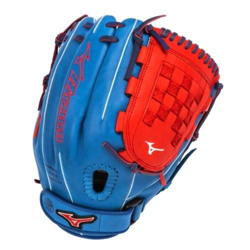 Mizuno MVP Prime Fast Pitch GMVP1200PSEF3 12 inch Softball Glove (Royal-Red, Right Hand Throw)