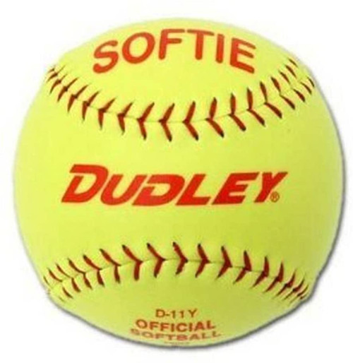 "Dudley D12Y 12"" Softie Yellow Synthetic Cover Red Stitch (1 Dozen)"