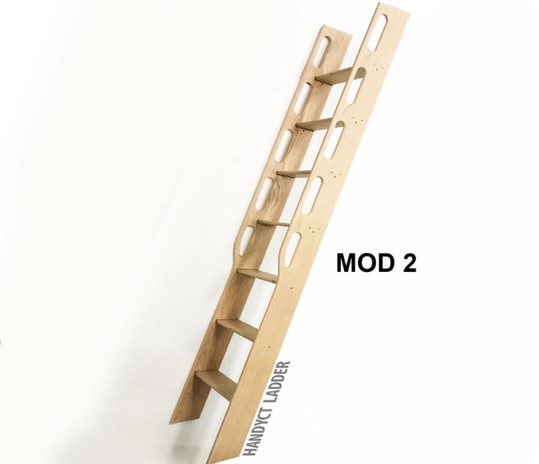 Wood Ladder, Library Ladder, Unassembled, Maple Oak Pine MD2