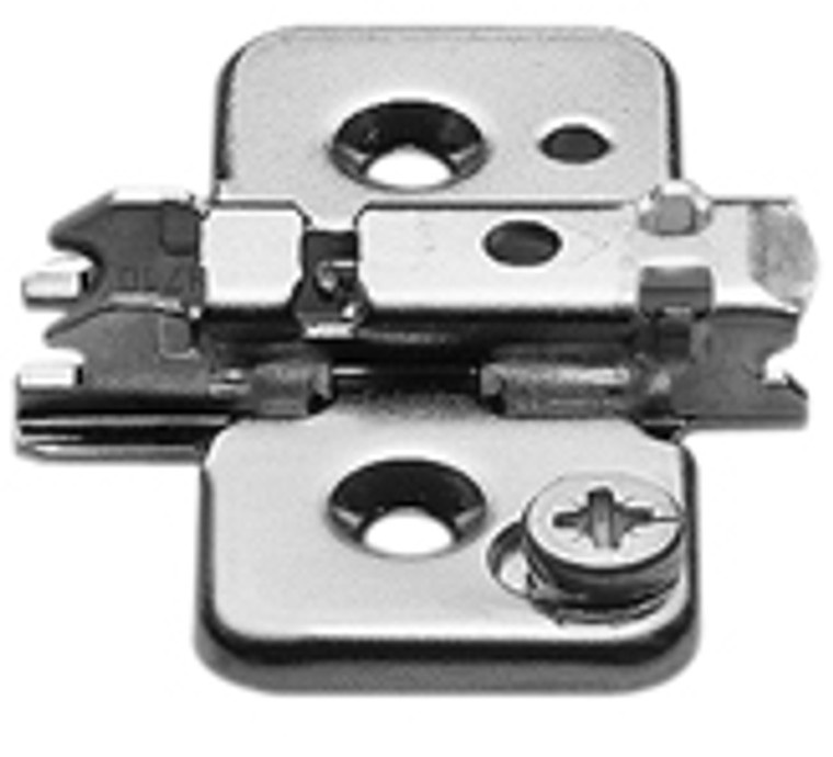 Clip Wing Plate, 0Mm, Cam Height Adjustable, Screw-On