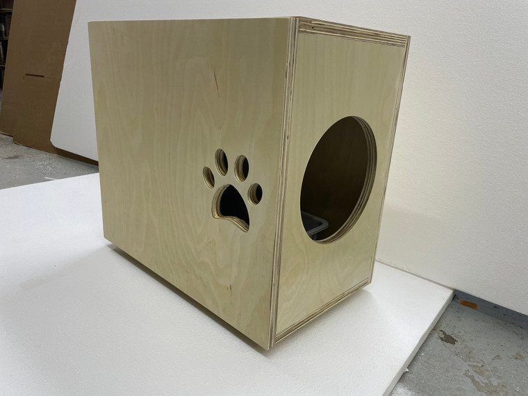Pet Dog Cat House Litter Crate Choose size,with Door.One Level.Unfinished.