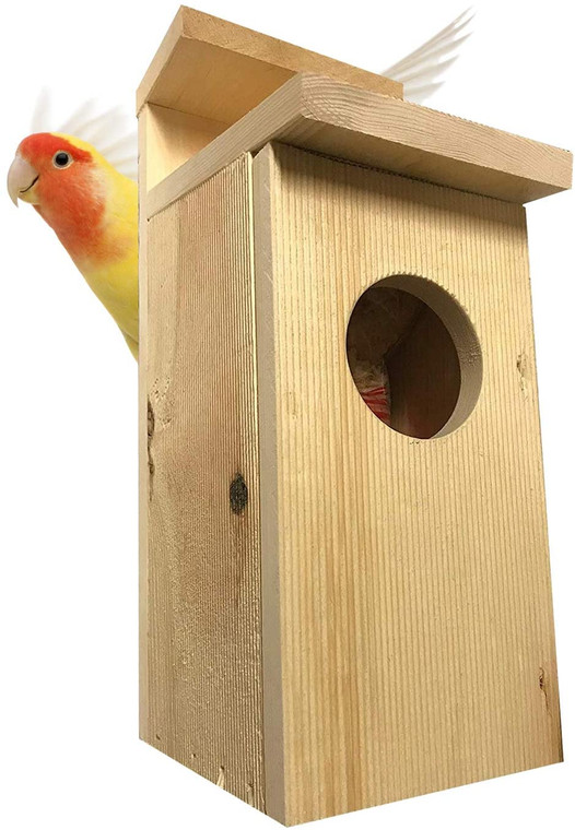 "Bird House American Kestrel nest box Bird House 2-4"" Hole Pine Unfinished , Choose Material and size."