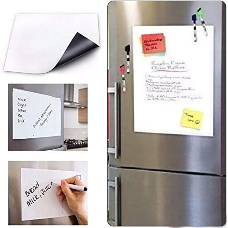 Flexible Magnetic Whiteboard Fridge Dry-Erase Home Office Reminder Magnet Kitchen Board