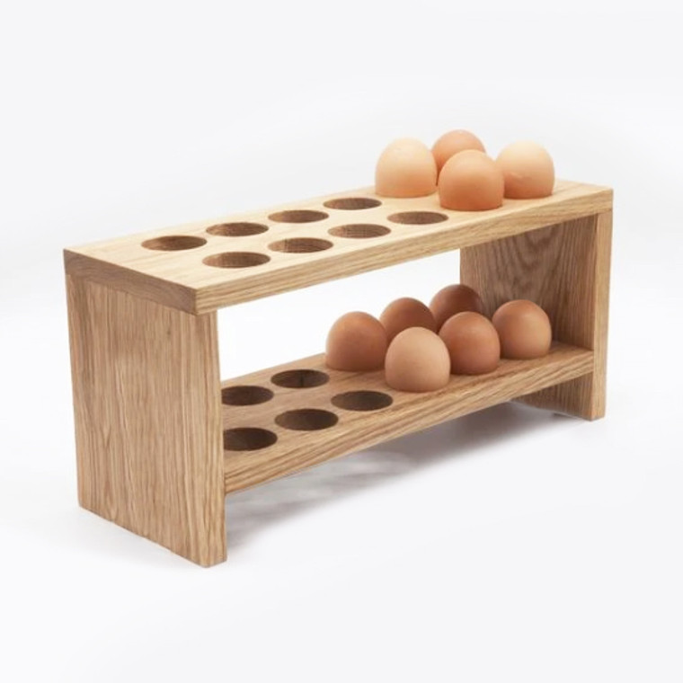 Double Egg Wood Holder Stand