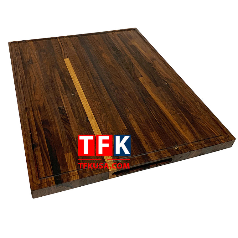Cutting Board Walnut Butcher Block - Natural Walnut Wood Cutting Board with Juice Groove -MD3